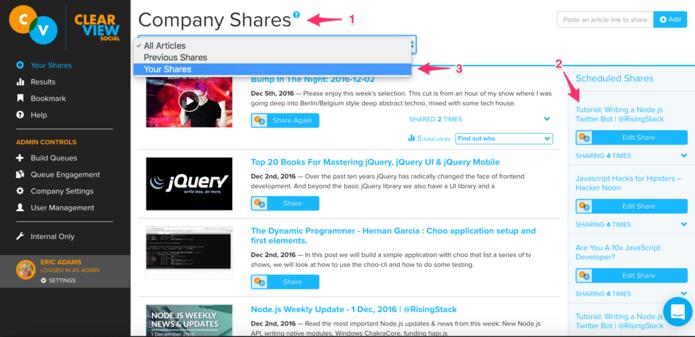 Company Shares Page