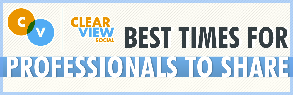 Best times for professionals to post to social